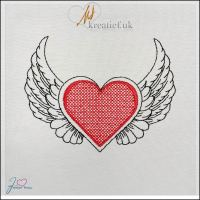 Freebie Friday Heart with Wings