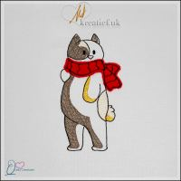 Quirky Creature – Cat with Scarf