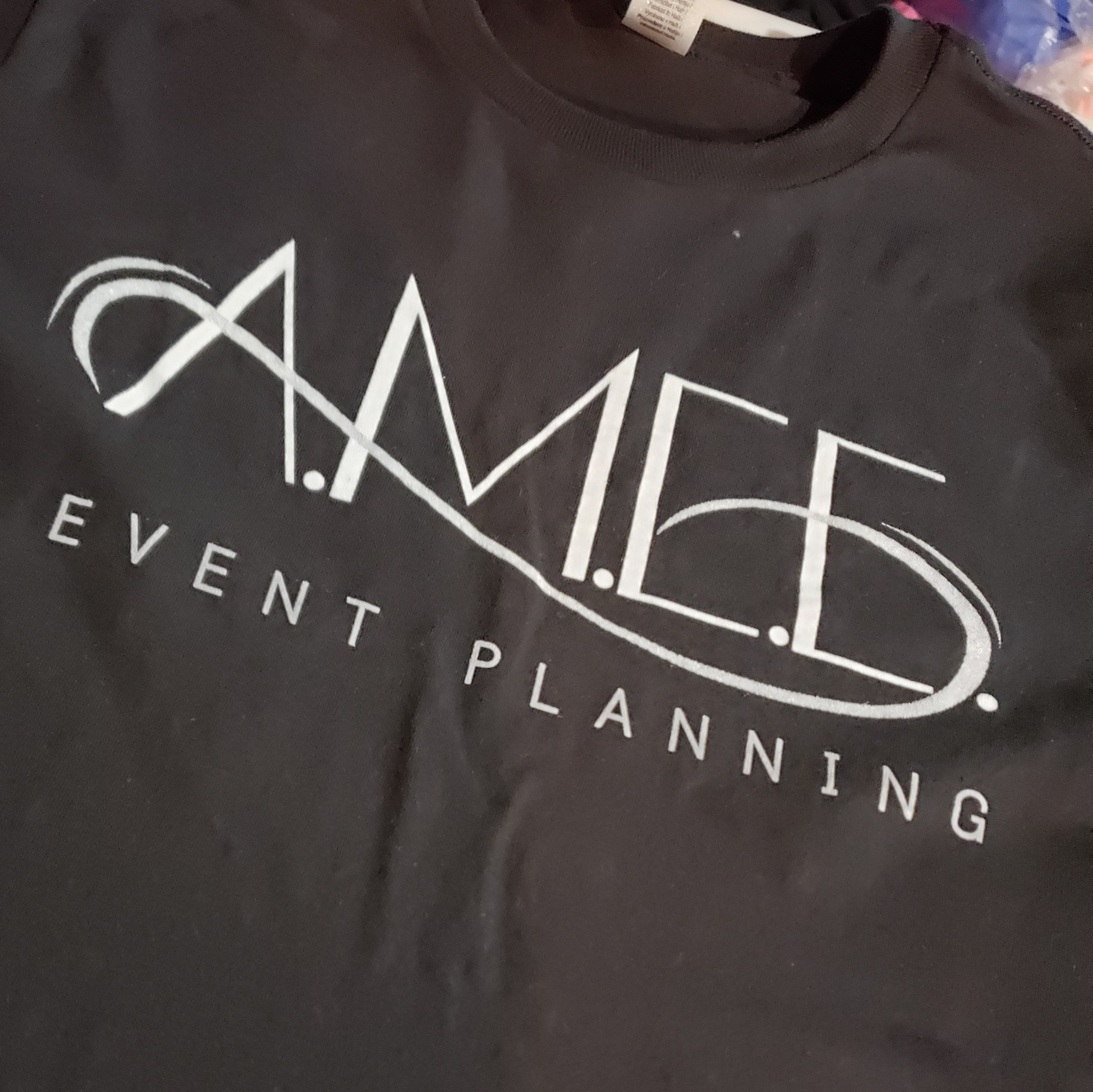 Screen print tee for small business