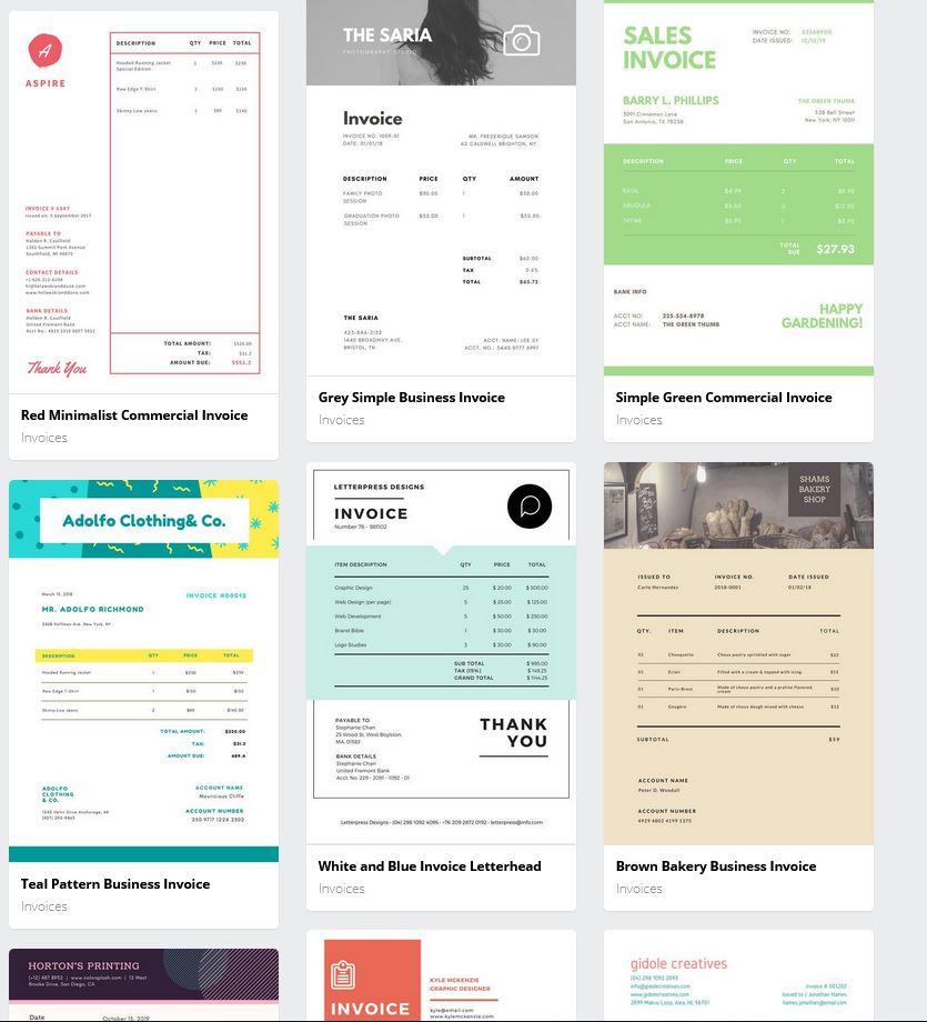 Professionelle Stylische Rechnungsvorlagen Für Kreative Freiberufler