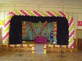 Оформление выпускного бала воздушными шарами в Харькове