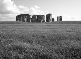 Stonehenge in schwarz-weiß