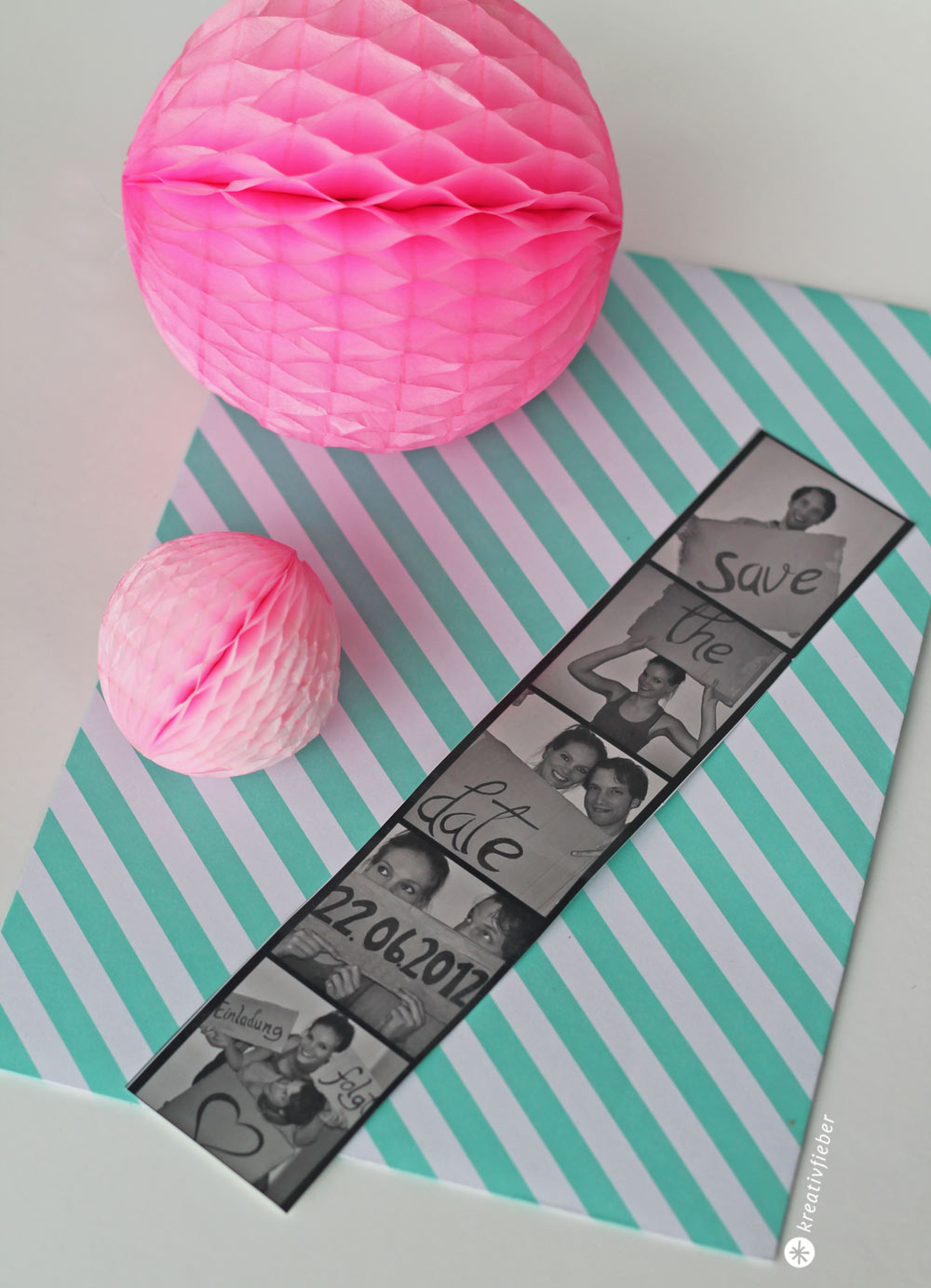 Diy Save The Date Photobooth Karte Hochzeit Diy