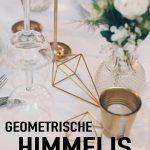 Geometrische Goldene Himmelis Selbermachen Diy Hochzeitsdeko