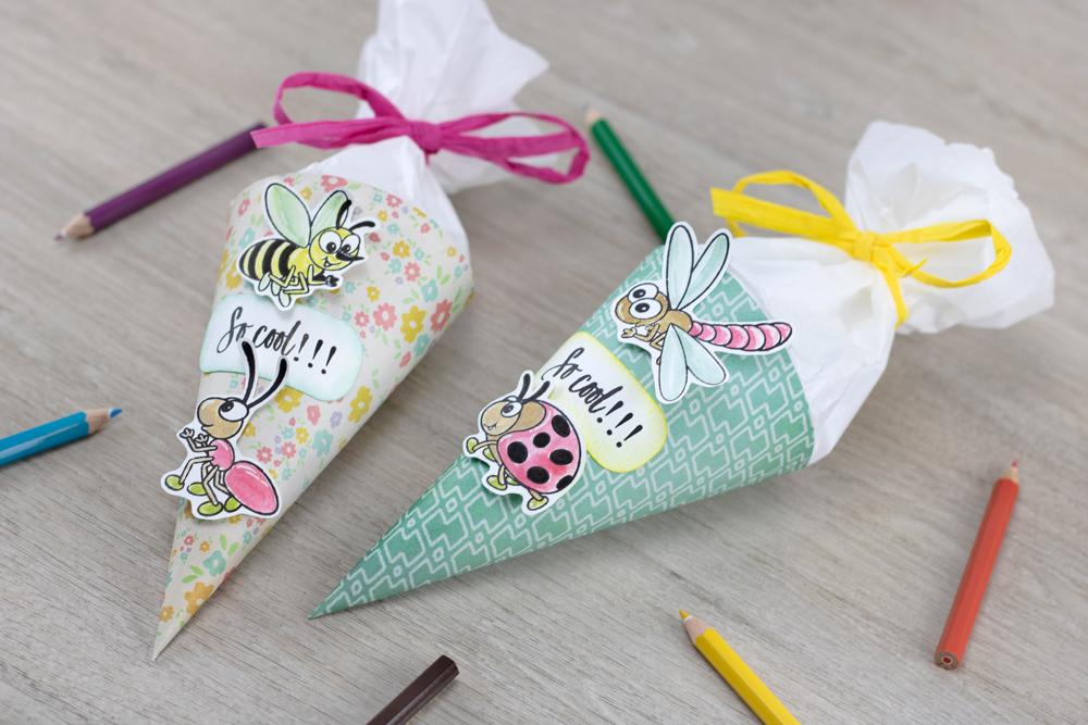 Mini-Schultüte für Schulanfänger