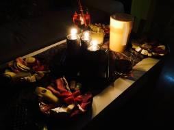 Intimní světlo při občerstvení