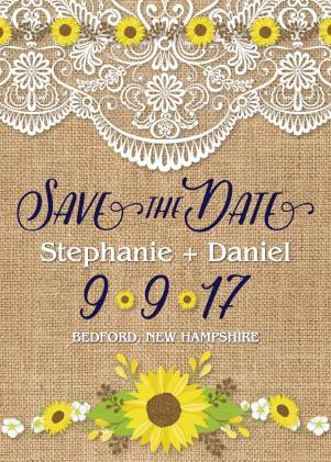 """5"""" x 7"""" Save the Date Postcard with Envelopes"""