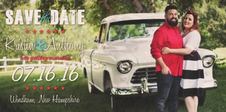 "4"" x 8"" Magnet Save the Dates"
