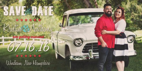 """4"""" x 8"""" Magnet Save the Dates"""