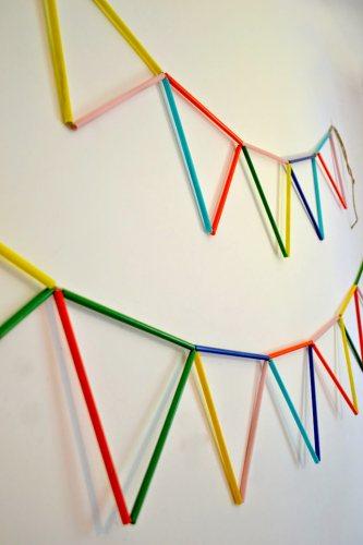 Cara Membuat Tirai Dari Sedotan Es : membuat, tirai, sedotan, Membuat, Hiasan, Dinding, Kamar, Sedotan, Ideku