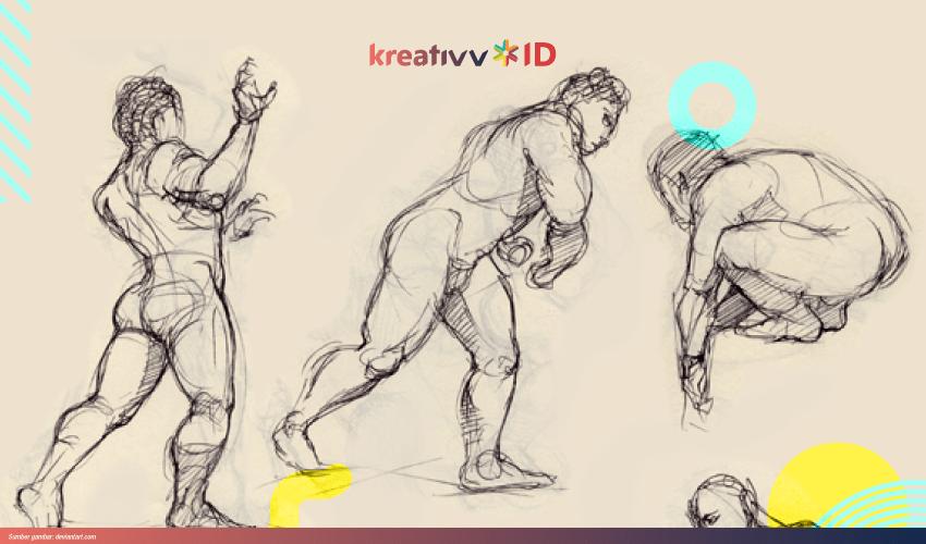 cara menggambar orang