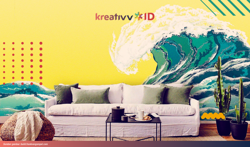 cara melukis dinding