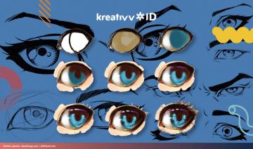 Tutorial Cara Menggambar Mata Anime