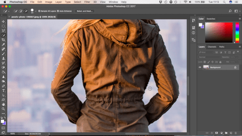 Cara mengganti background foto dengan Photoshop 3