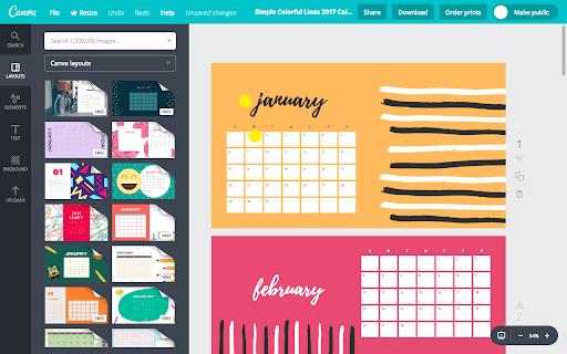 Aplikasi pembuat kalender 1