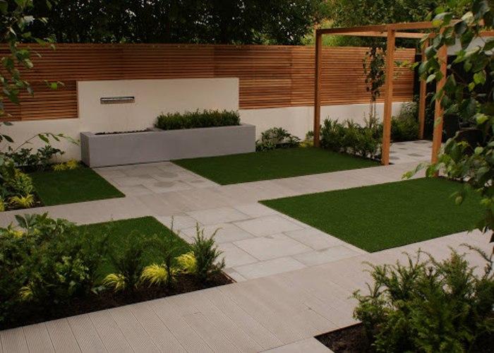 perpaduan taman minimalis