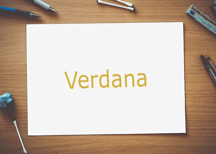 font untuk subtitle Verdana