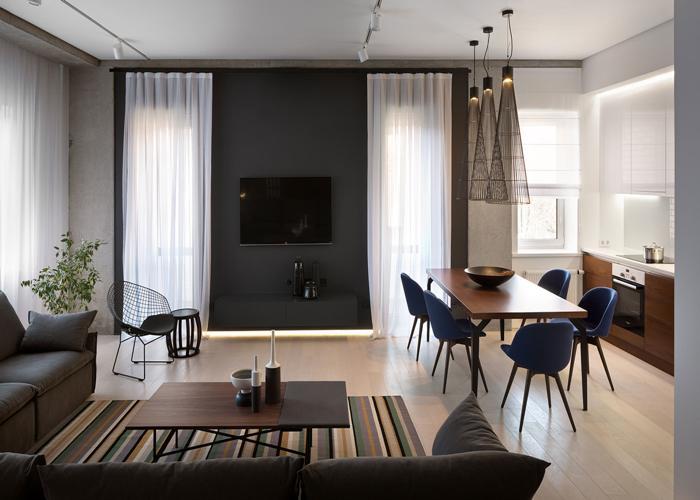 desain Ruang Keluarga Digabung