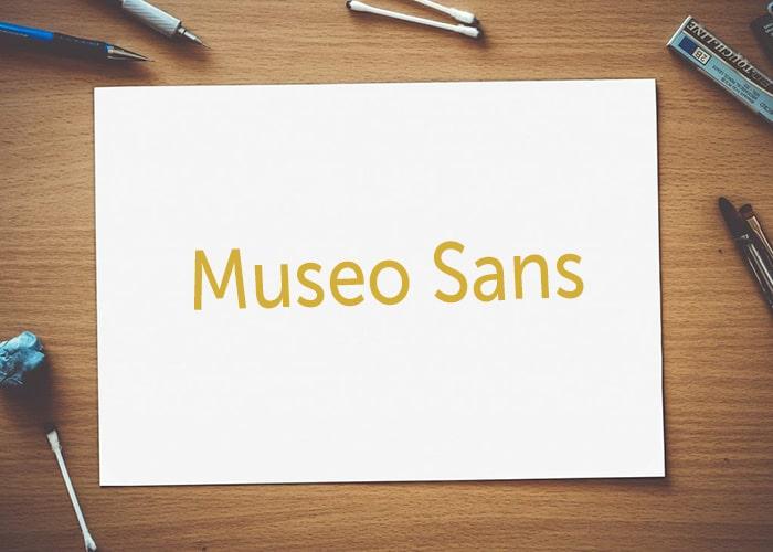 Museo Sans font untuk subtitle