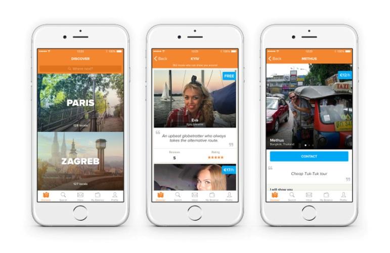 showaround App pada smartphone
