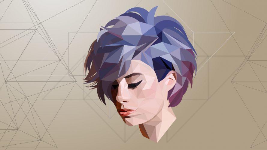 desain low poly portrait