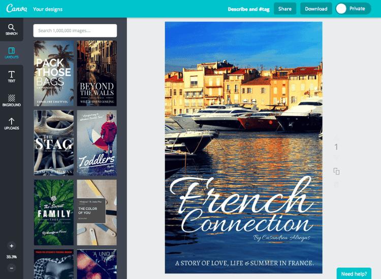 Canva aplikasi membuat cover buku
