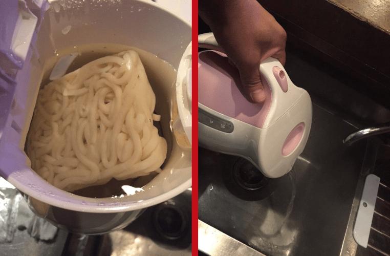 memasak mie dengan termos listrik
