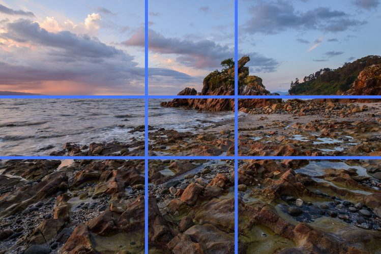 rule of thirds dalam landscape photography