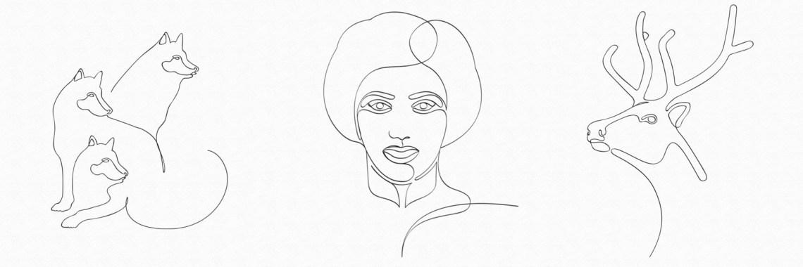 teknik one line drawing Notion