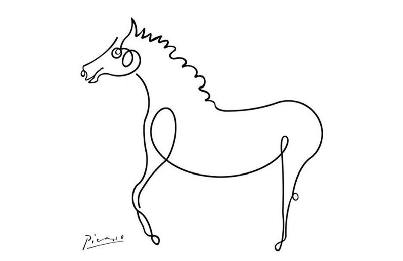 teknik one line drawing 1