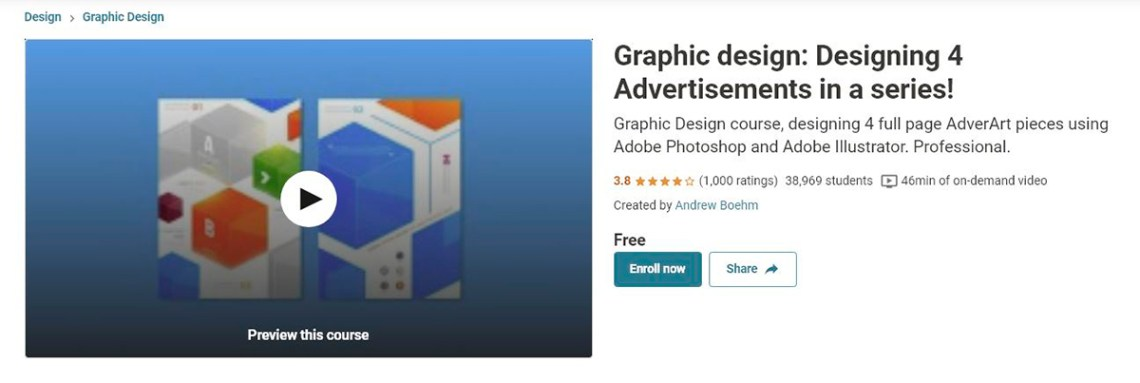 Graphic-Design-Designing-4-Advertisements-in-A-Series – Udemy