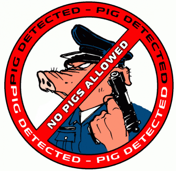 "A major vendor of stolen credit cards tries to detect suspicious transactions by law enforcement officials. When it does, it triggers this ""pig detected"" alert."