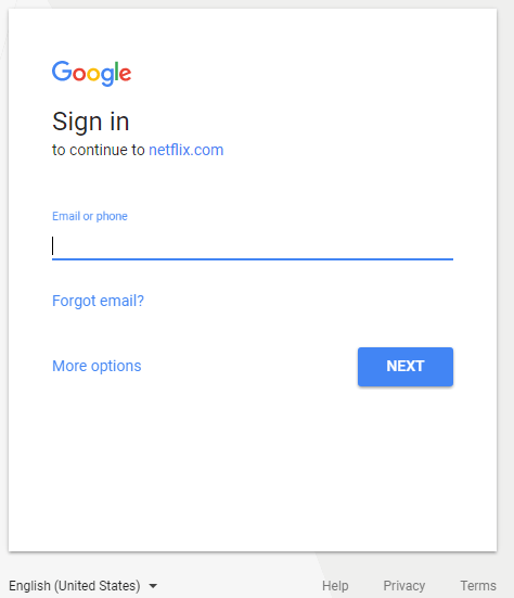 Netflix's sign-in page at Workday.com.