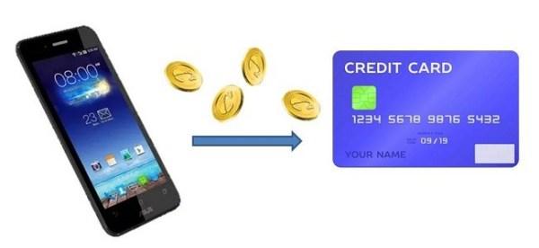 Как перевести деньги с телефона на кредитную карту