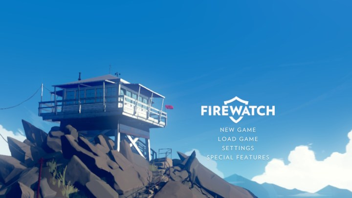 Firewatch title screen