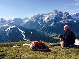 Bra rastplats 2300 möh i Dolomiterna.