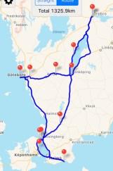 9 sept: Vi gör en rundtur med husbilen i södra Sverige.