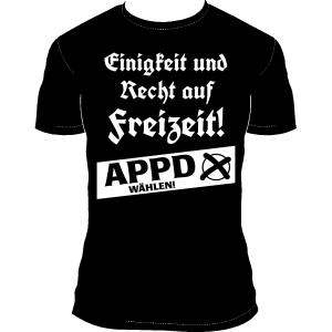 """T-Shirt """"Einigkeit und Recht auf Freizeit"""""""
