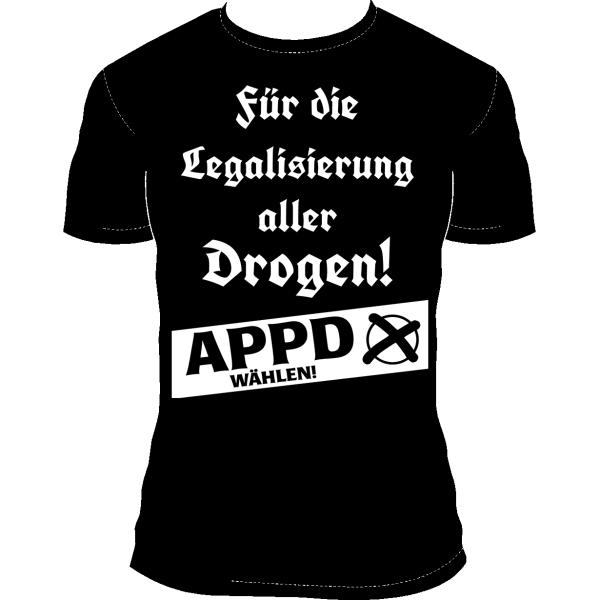"""T-Shirt """"Für die Legalisierung aller Drogen!"""""""