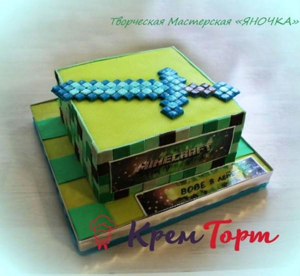 Торт майнкрафт фото. Мои работы тортов на день рождения