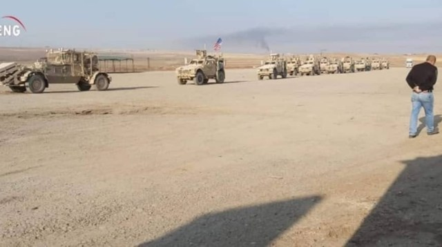 Amerykański konwój wojskowy wjechał do Syrii by okupować tamtejsze ...