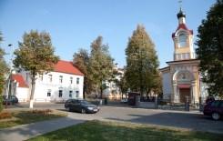 Wołkowysk. Z lewej budynek, w którym w 1939 roku znajdował się posterunek policji.
