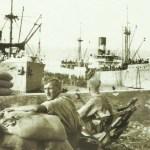 Einschiffung von Kriegsgefangenen