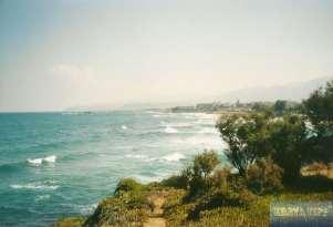 Küstenlinie von Malia