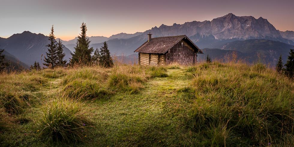 """a sunrise on a wonderfull Place called """"Schellalm"""" near Garmisch-Partenkirchen."""