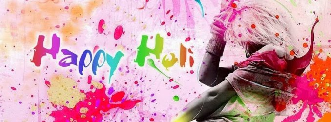 Happy Holi 2018 Facebook Cover Photo B