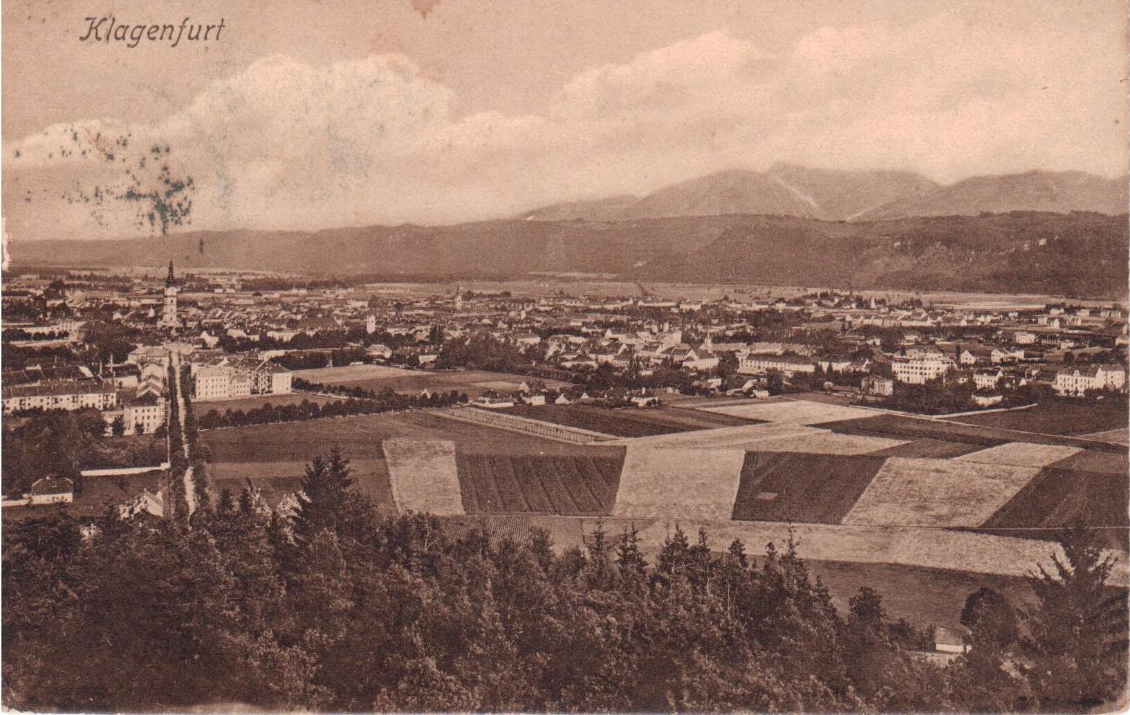 Der Blick vom Kreuzbergl ca 1905