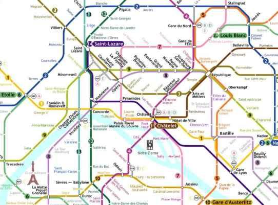 Paris Metro Plan