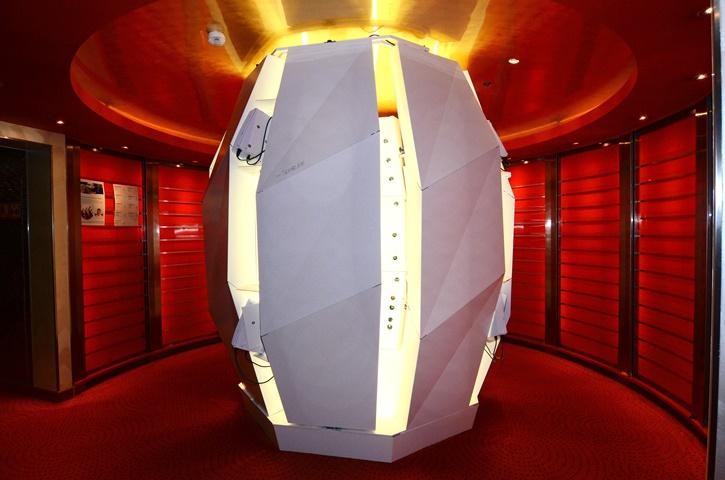 So sieht der 3D-Scanner an Bord von AIDAbella aus. Bildquelle: AIDA Cruises