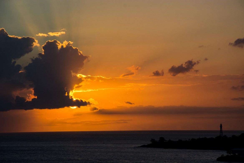 Abendstimmung auf dem karibischen Meer.